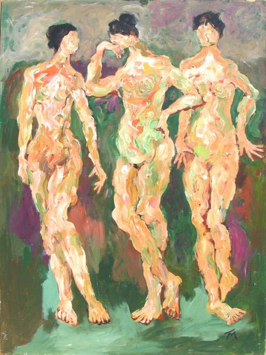 Three Muses by  Tom Maley - Masterpiece Online