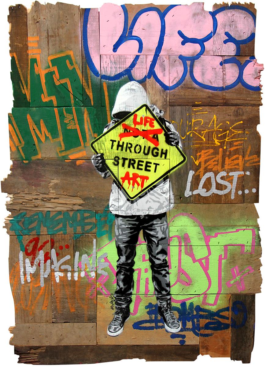 Art Through Street Art by  Hijack  - Masterpiece Online
