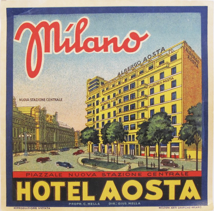 Hotel label - Milano ... by    - Masterpiece Online