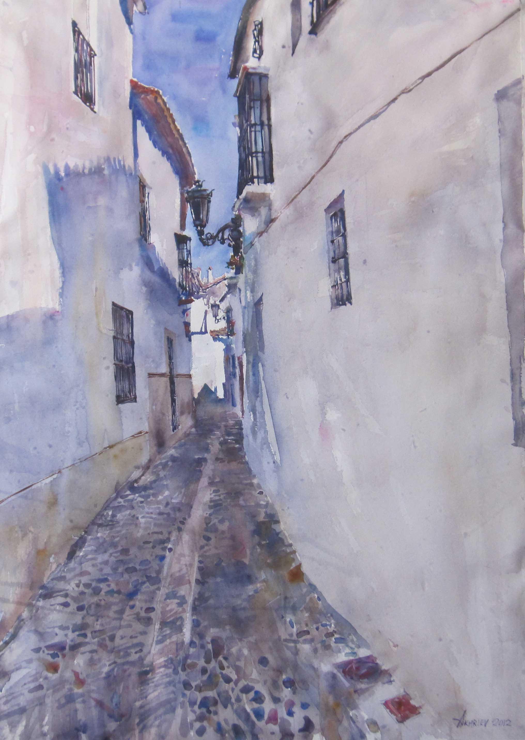 Old Streets of Ronda by  Daud Akhriev - Masterpiece Online