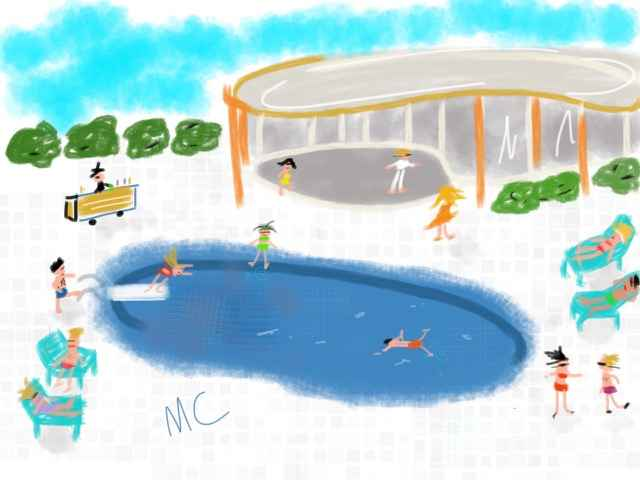 At the Pool Party by  Martha Coaty - Masterpiece Online