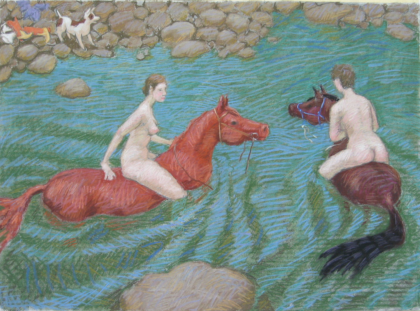 Swimming on the Horse by  Melissa Hefferlin - Masterpiece Online