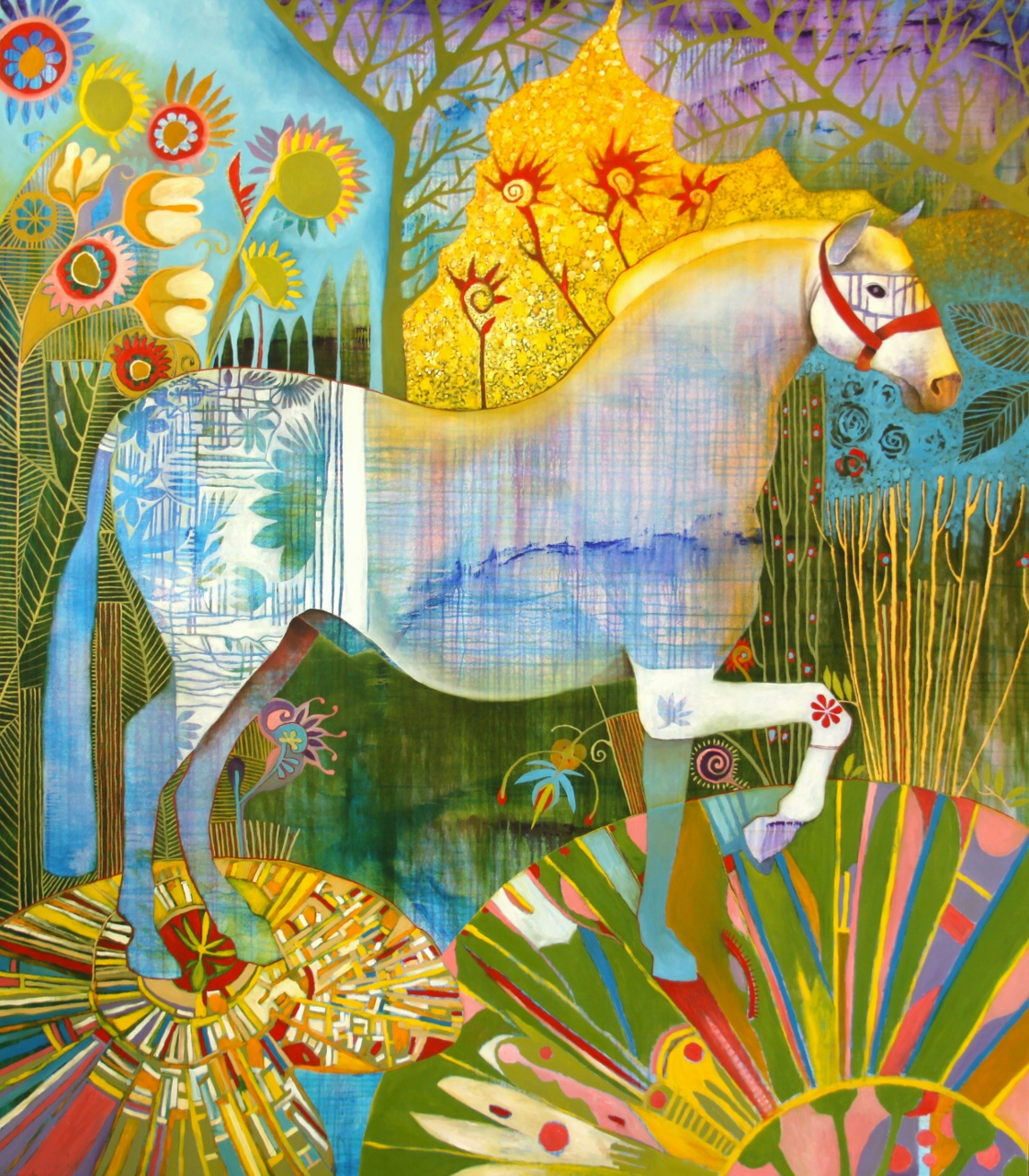HORSE IN THE LILLY PO... by Mr. RENE ALVARADO - Masterpiece Online