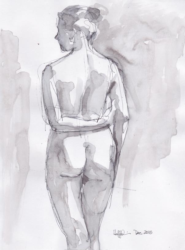 Figure Sketch: 14 by  Melissa Hefferlin - Masterpiece Online