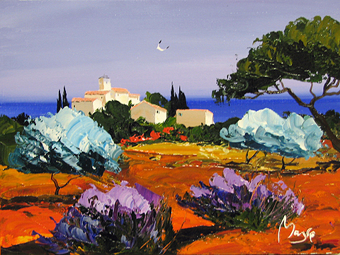 Mountain View by  Louis  Magre - Masterpiece Online