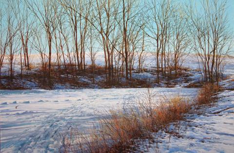 Frozen Pond, Afternoo... by  Michael Wheeler - Masterpiece Online