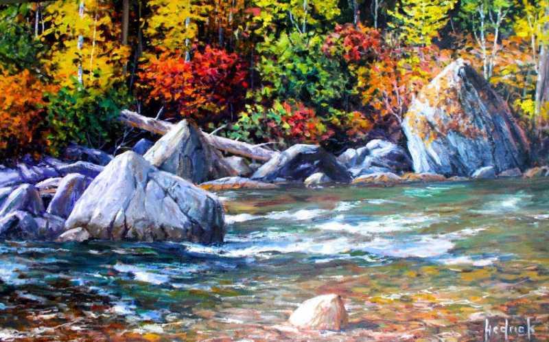 Pemberton Stream by  Ron Hedrick - Masterpiece Online