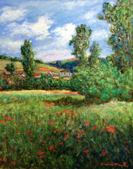 Hills and Meadow with... by  Andres  Morillo - Masterpiece Online