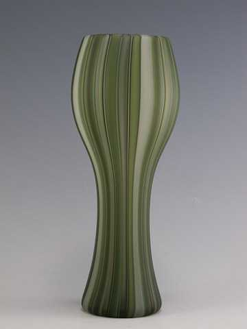 Hour Glass Vase/Green... by  Clayton Hufford - Masterpiece Online