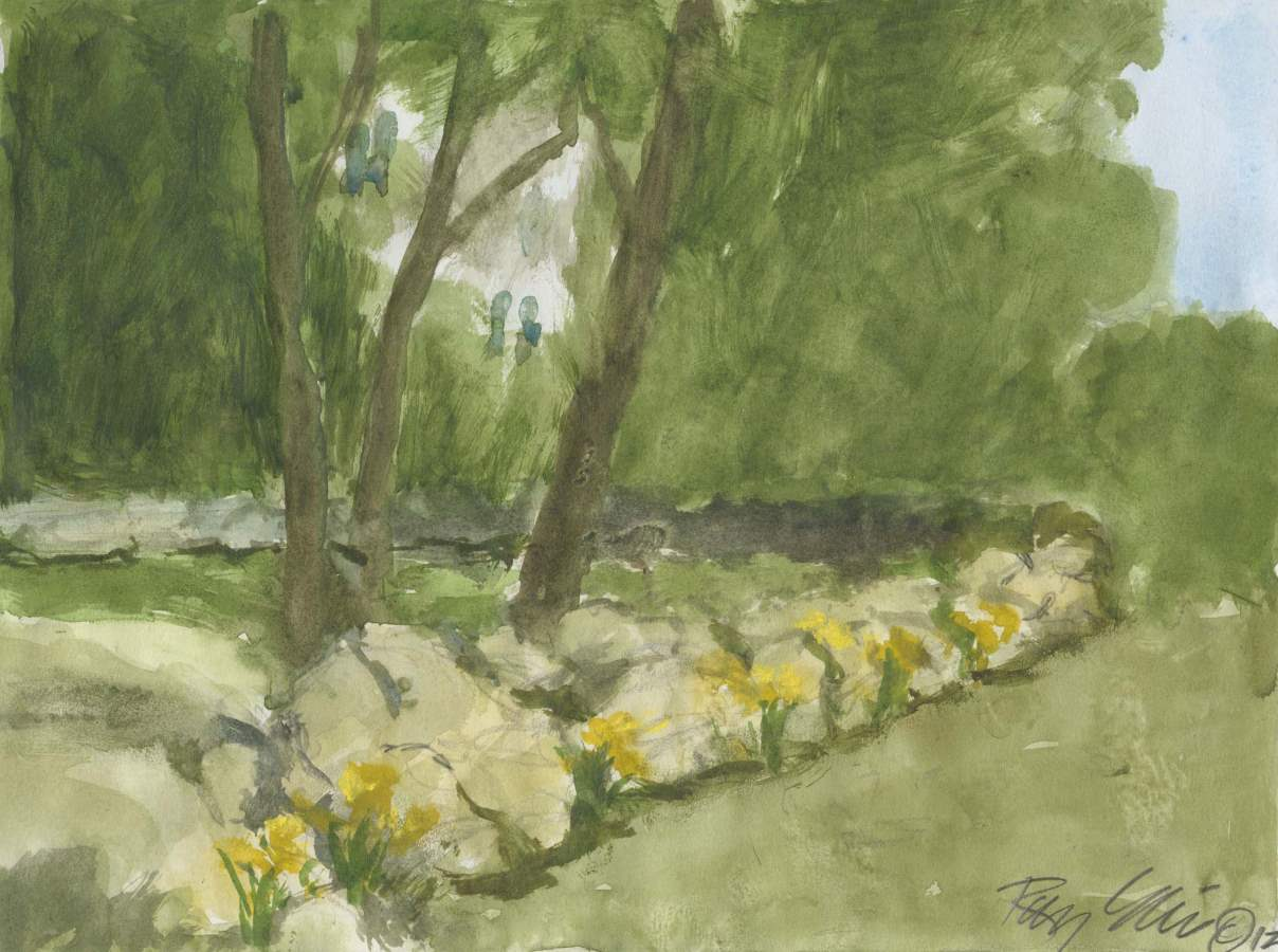 Stone Wall in Spring ... by  Ray Ellis - Masterpiece Online