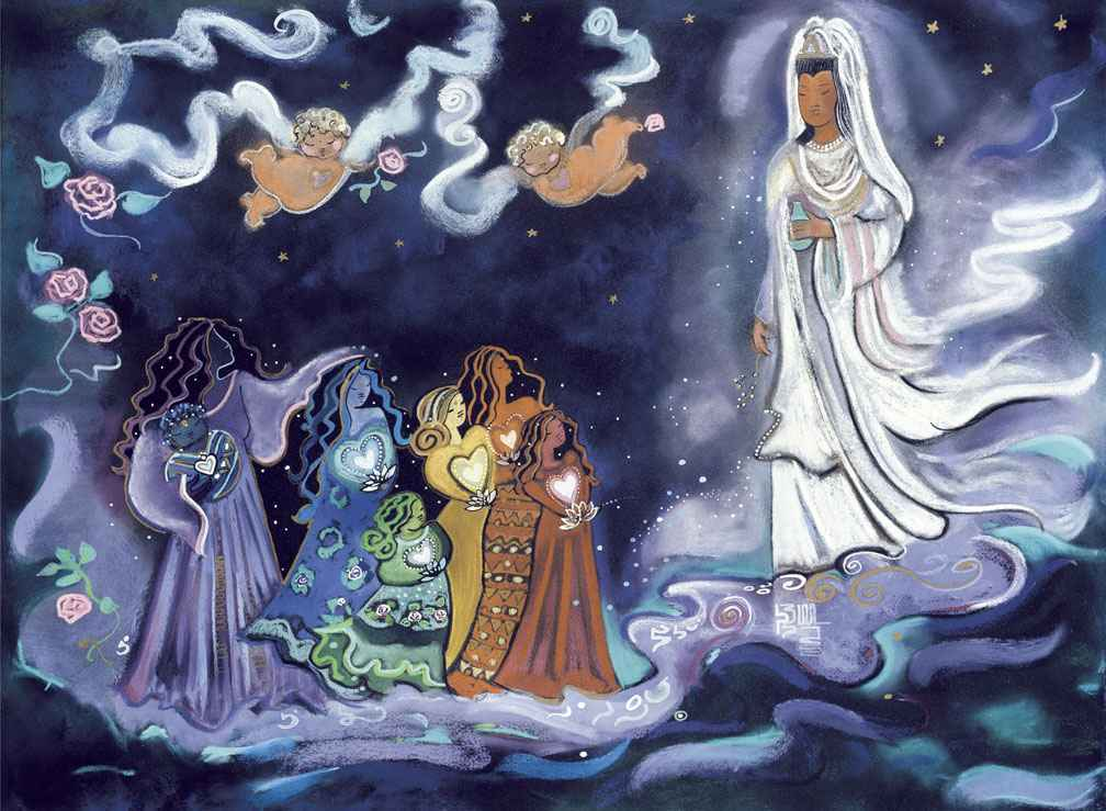Quan Yin And The Rain... by  Andrea Smith - Masterpiece Online