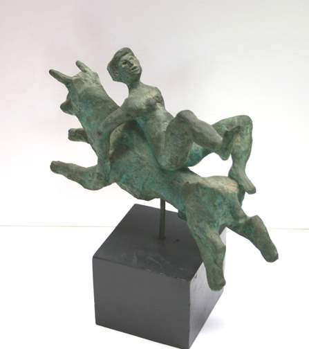 Woman Riding a Bull by  Tom Maley - Masterpiece Online