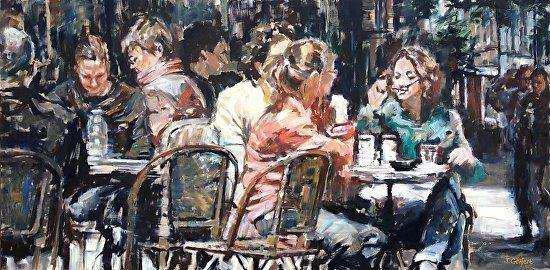 Cafe on the Corner by Mrs Judy Gelfert - Masterpiece Online