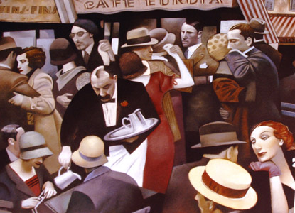 Cafe Europa  by  Gary Kelley Prints