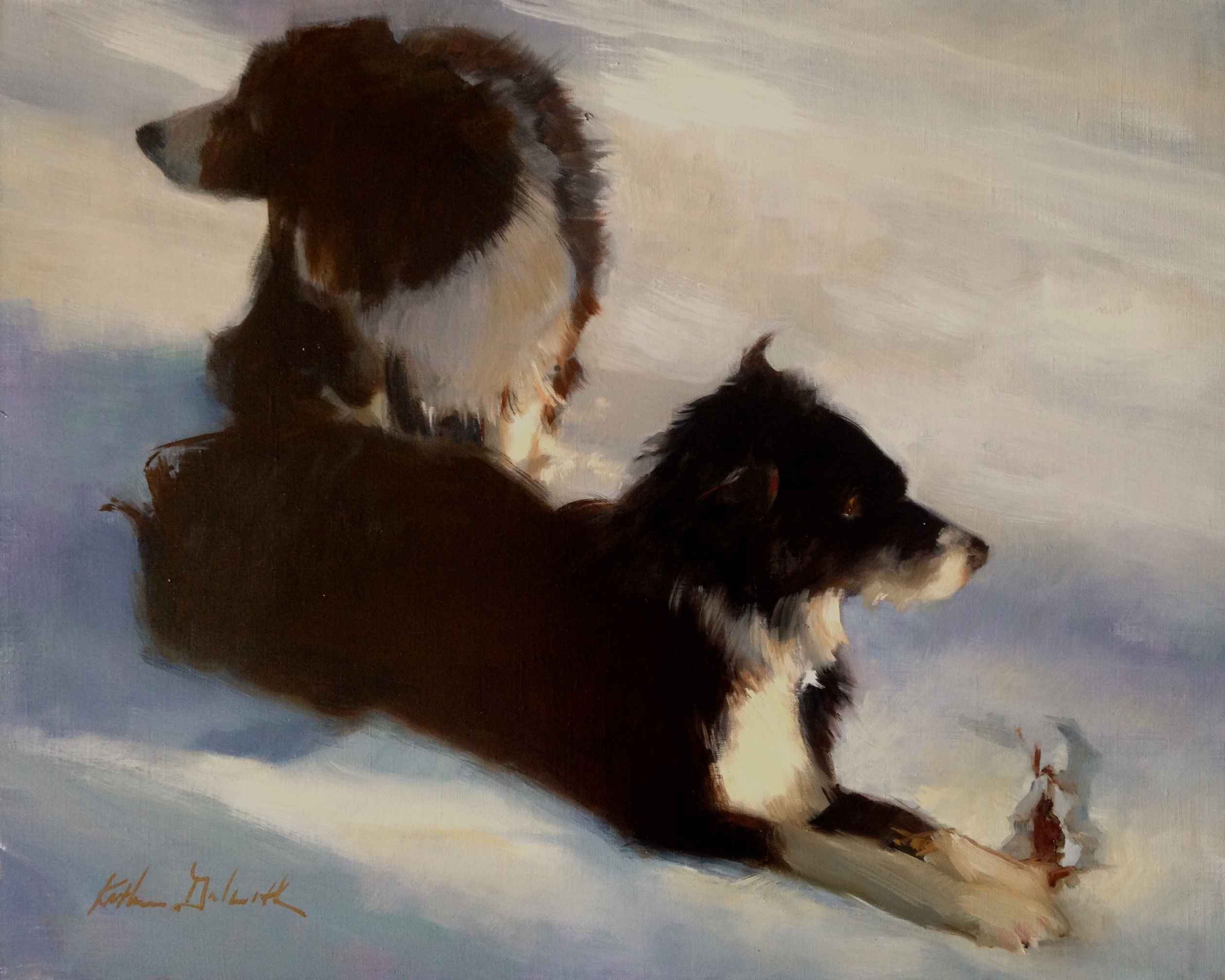 Snowy Afternoon Walk by  Katherine Galbraith - Masterpiece Online