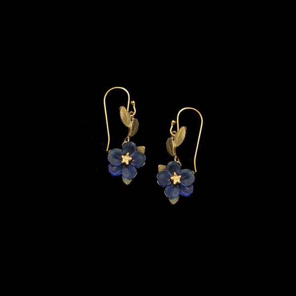 Blue Violet Wire Earrings