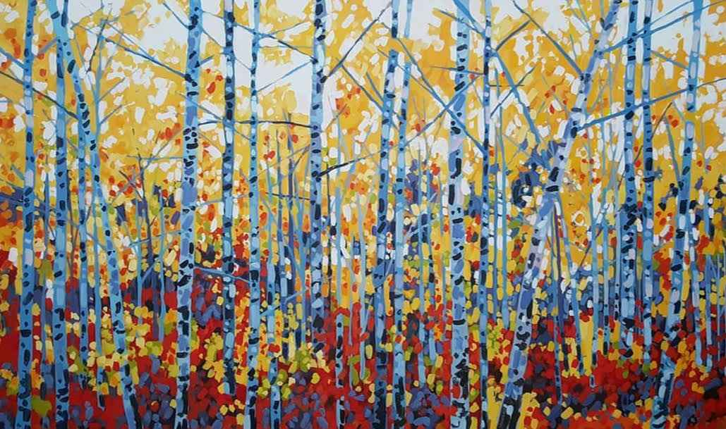Birch Forest  by  Holly Lombardo