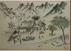 Village Scene by  Hon Chew Hee (1906-1993) - Masterpiece Online
