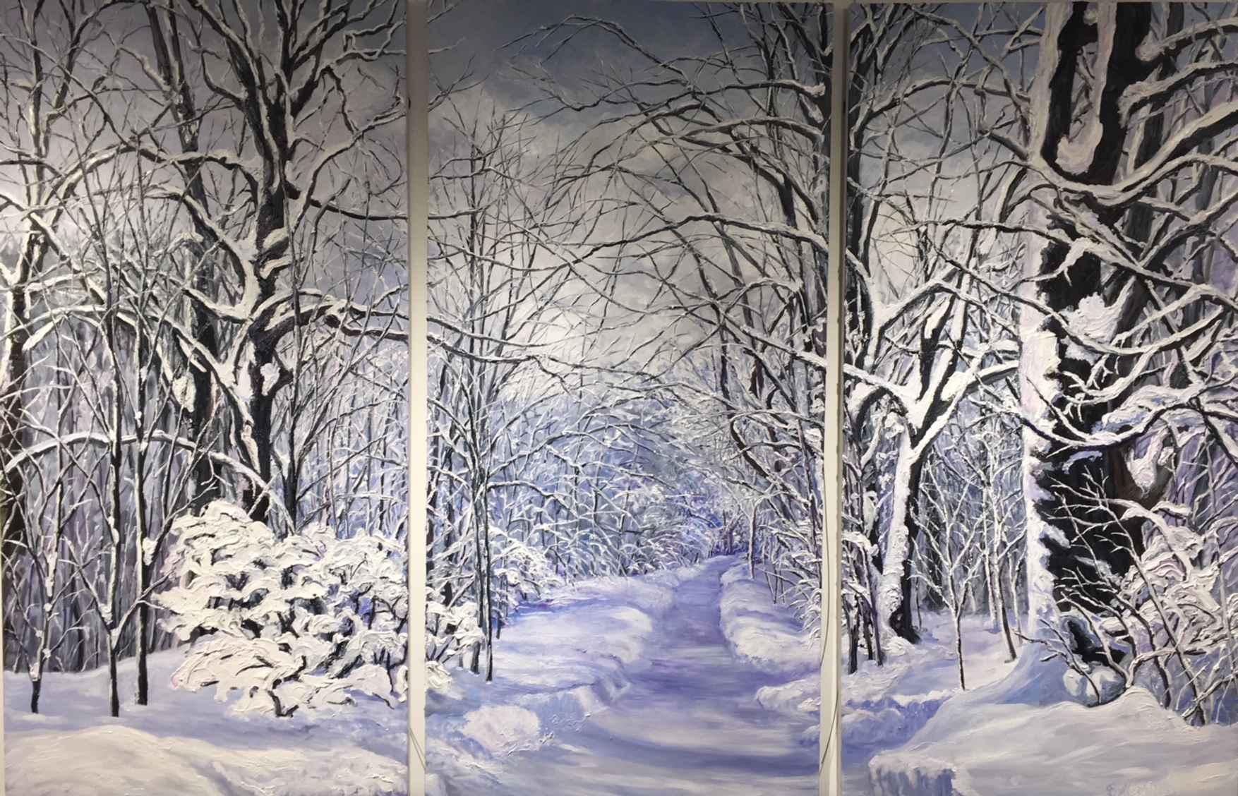 Lover's Lane (Triptyc... by Ms Debra Lynn Carroll - Masterpiece Online
