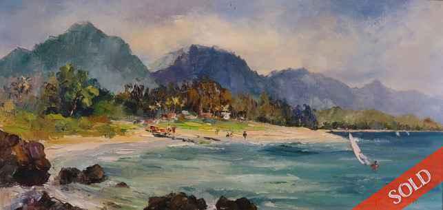 Maui Windsurfers by  Hajime Okuda (1906-1992) - Masterpiece Online