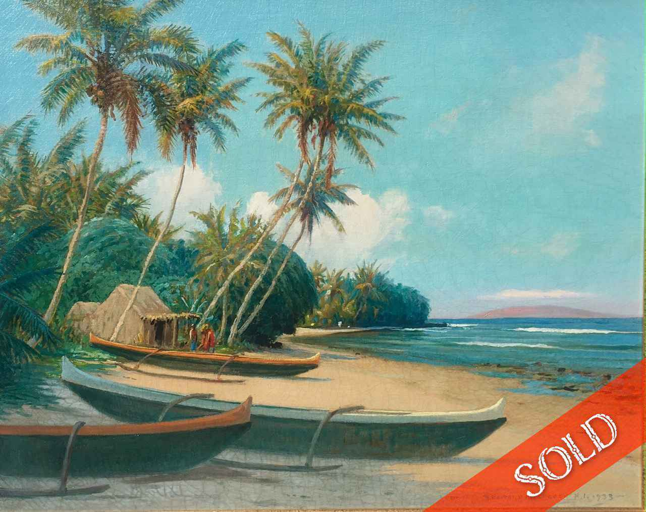 Olowalu Beach, Maui by  David Howard Hitchcock (1861-1943) - Masterpiece Online