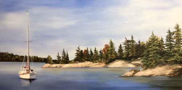 Evening Stillness by  Janet Liesemer - Masterpiece Online