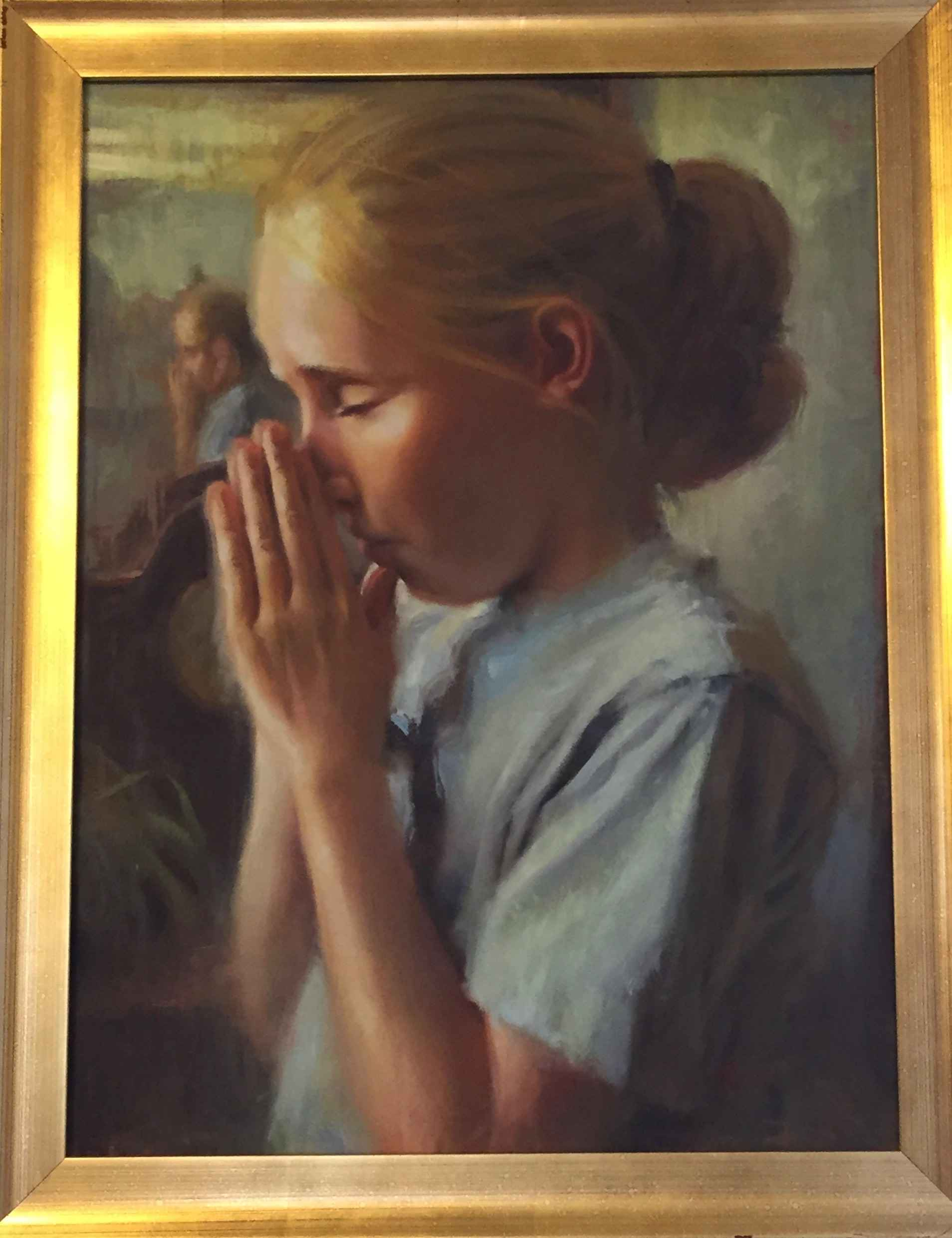 Little Girl Praying by  Chuck Marshall - Masterpiece Online