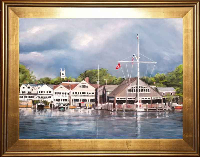Edgartown Yacht Club by  Warren V. Gaines - Masterpiece Online