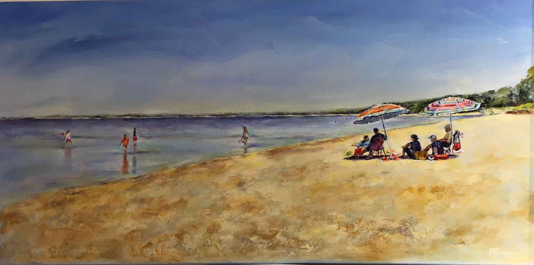 Summer Day At the Bea... by  Nadia Lassman - Masterpiece Online