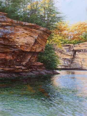 Laurel Lake Cliffs by  Michael Wheeler - Masterpiece Online