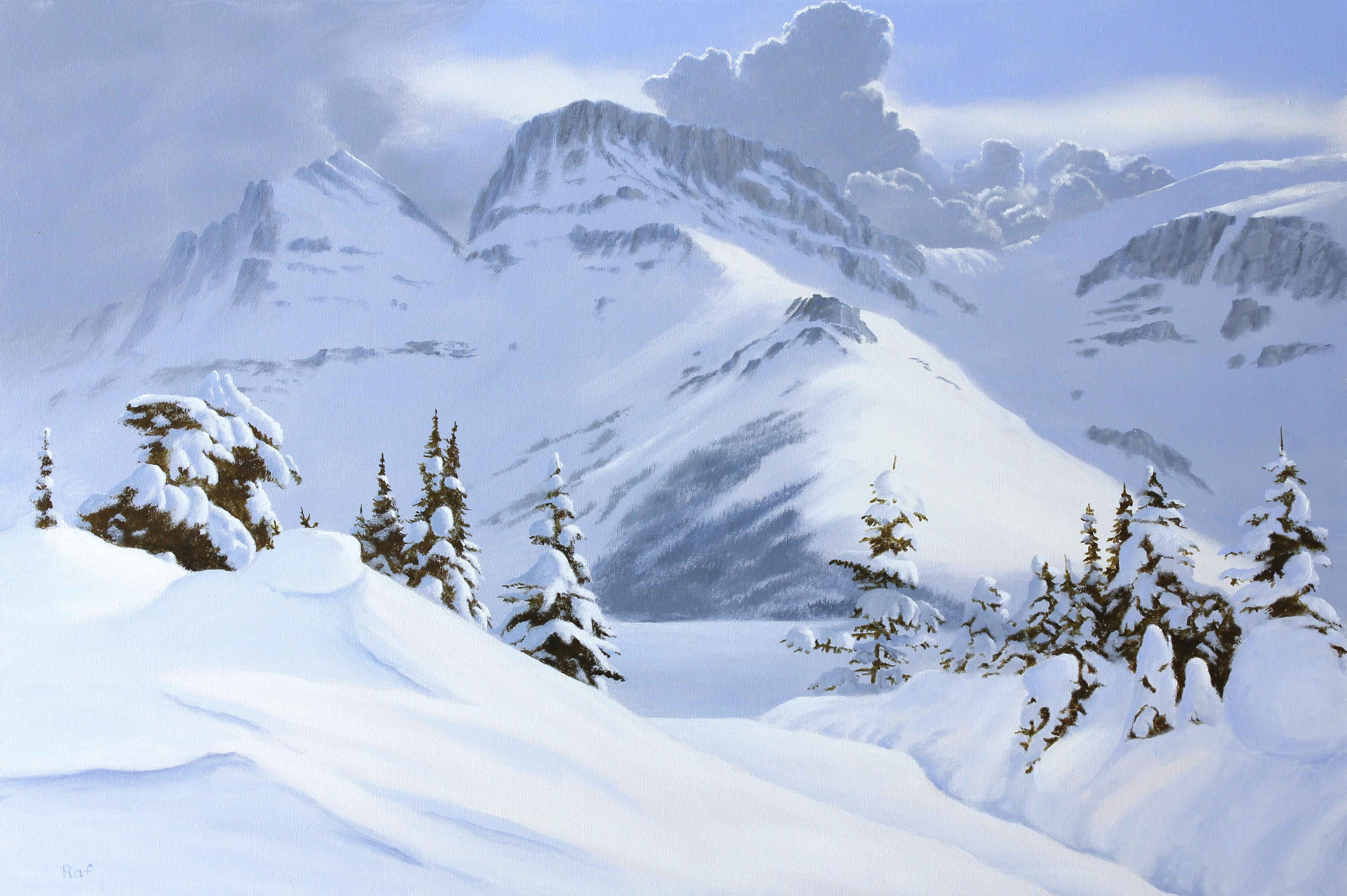 After Heavy Snowfall  by  Ted Raftery