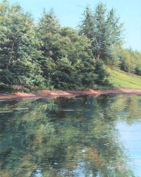 Calm River - July by  Michael Wheeler - Masterpiece Online
