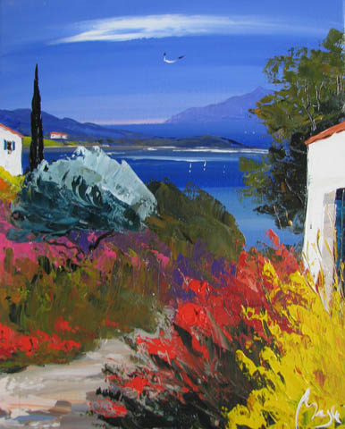 Village by the Bay by  Louis  Magre - Masterpiece Online