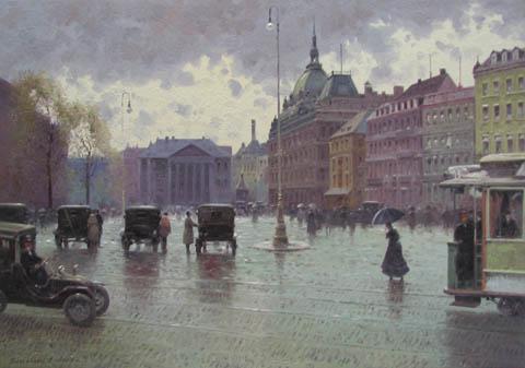Paris InThe Rain by  Vasily Gribennikov - Masterpiece Online