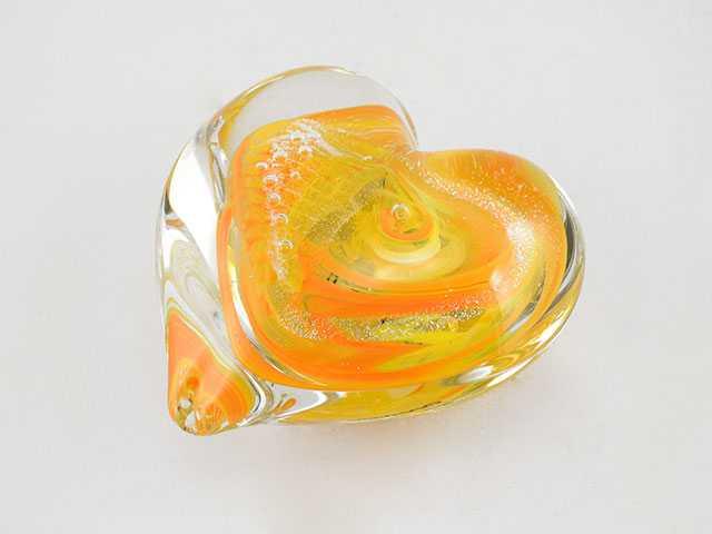 Heart Paperweight/Yel... by  Michelle Kaptur - Masterpiece Online