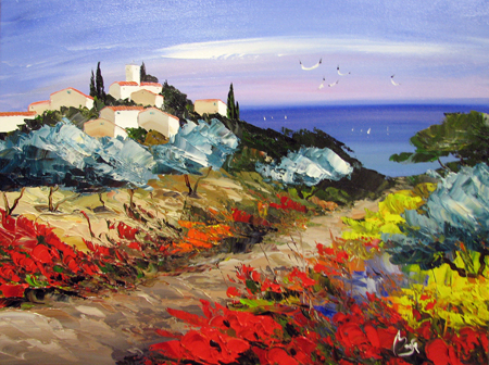 Path to the Sea by  Louis  Magre - Masterpiece Online