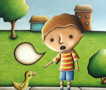 Boy And Duck  by  Kevin Luthardt