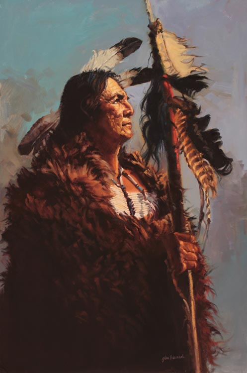 SOLD- Buffalo Man by  Glen Edwards - Masterpiece Online