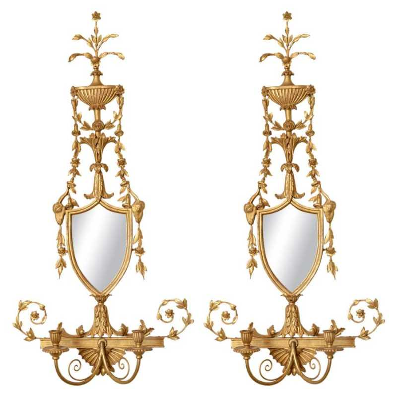 Pair of Giltwood Mirr... by  Italian  - Masterpiece Online