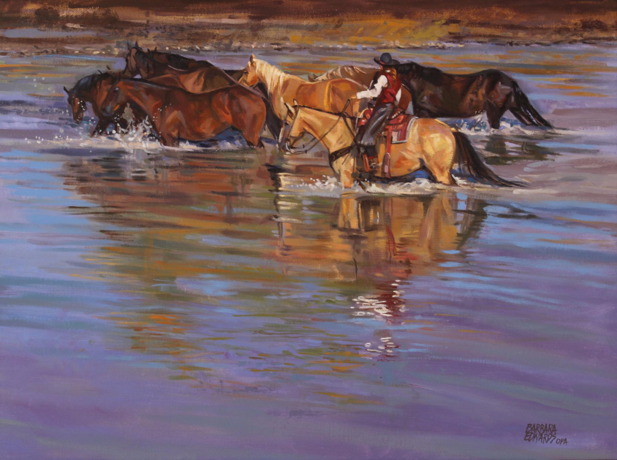 Cheyenne Crossing by  Barbara Summers Edwards - Masterpiece Online