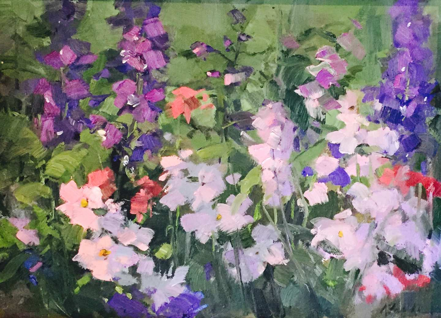 Delphinium and Phlox by MS Kaye Franklin - Masterpiece Online