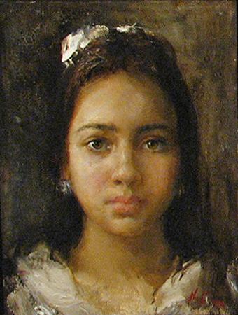 Girl - front view 2014 by  Nikolai  Blokhin  - Masterpiece Online