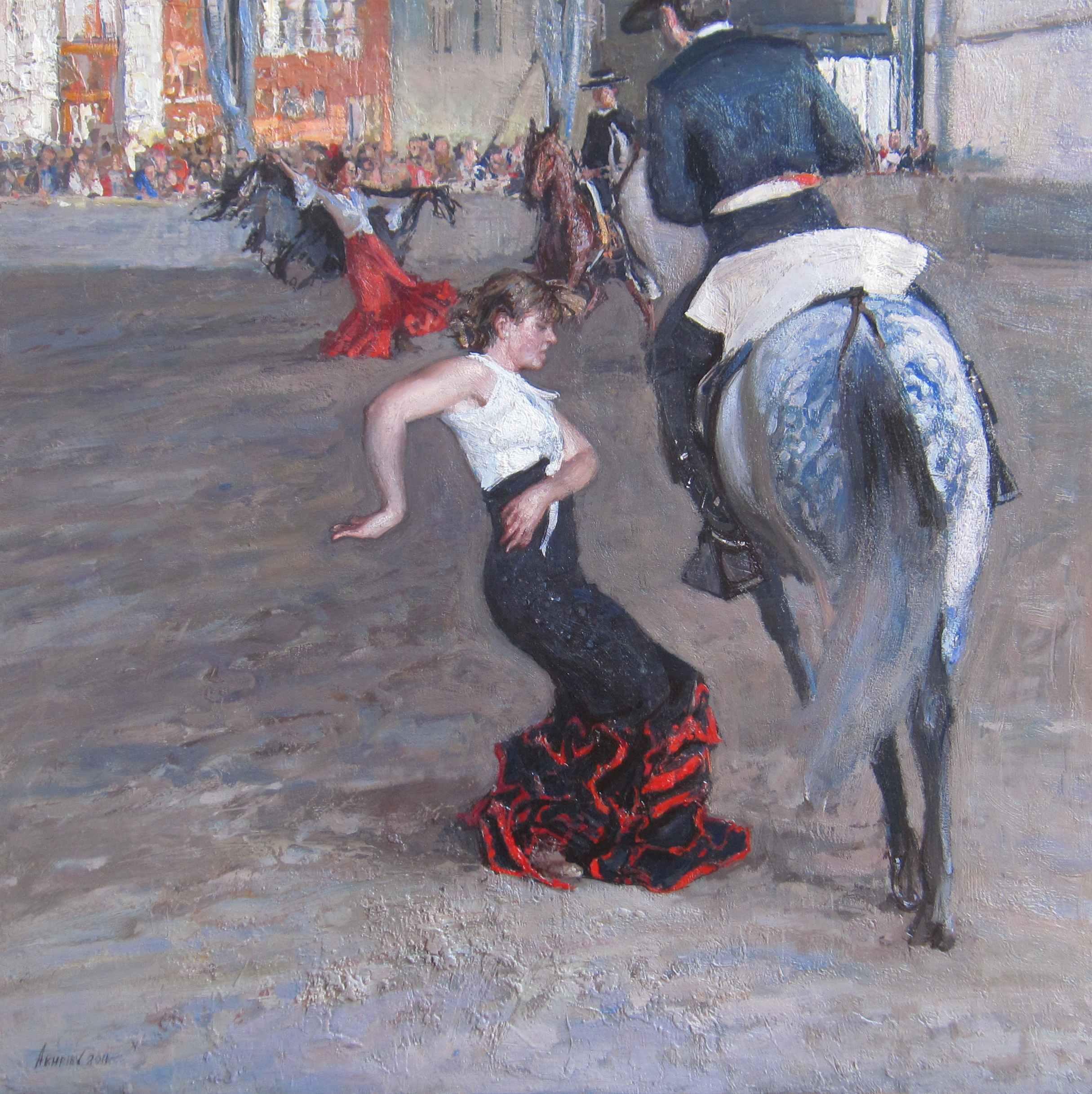 Flamenco With Horses by  Daud Akhriev - Masterpiece Online