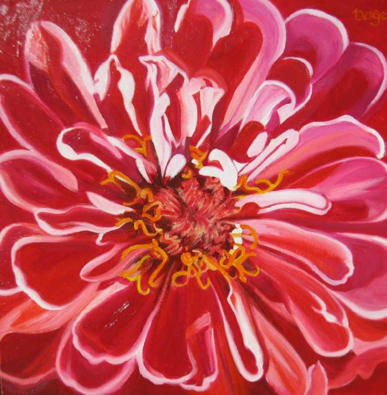 Red Zinnia by  Don Berger - Masterpiece Online
