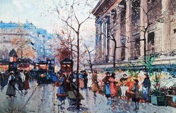 Marche aux Fleurs, pr... by  E. Galien Laloue  - Masterpiece Online