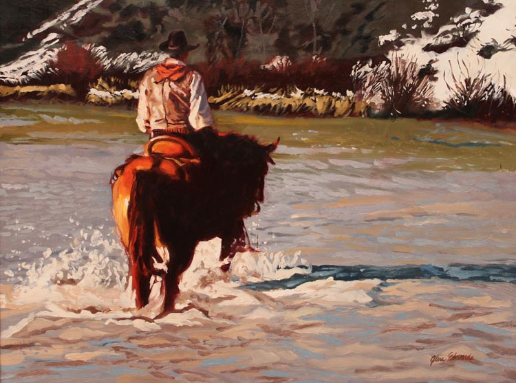 SOLD- October Snow by  Glen Edwards - Masterpiece Online
