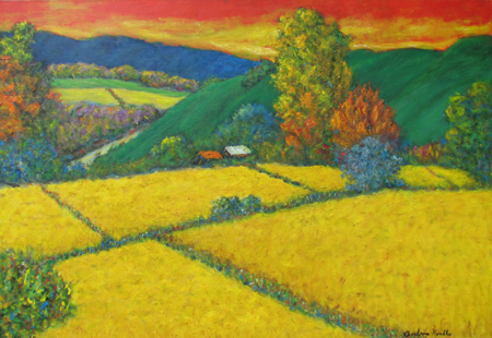 Wheatfield on top of ... by  Andres  Morillo - Masterpiece Online
