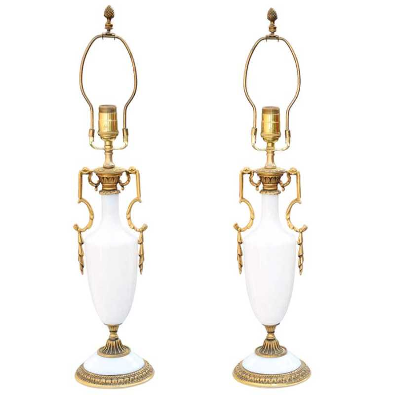 Fine Pair of Opaline ... by  French  - Masterpiece Online