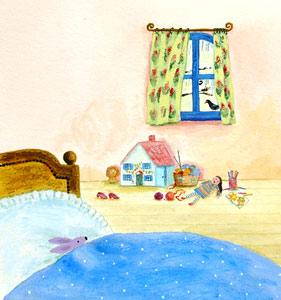 In Little Girls Bed by  Tiphanie Beeke - Masterpiece Online