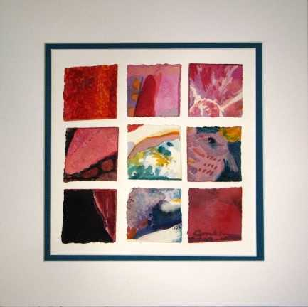 Nine Squares: red by  Cindy Conklin - Masterpiece Online